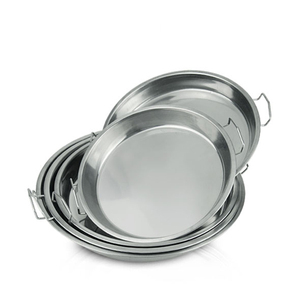 SS 410 stainless steel serving tray thali decorative indian thali silver round plates