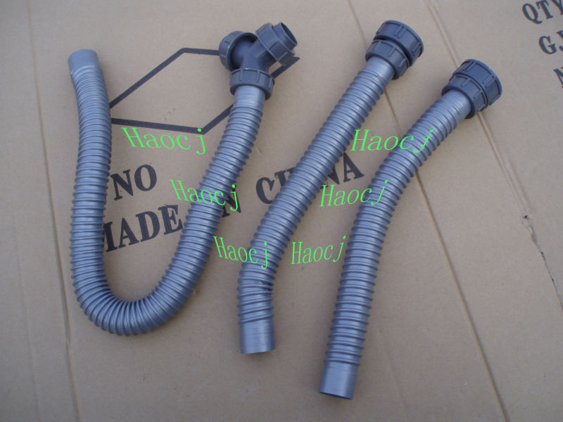 Tubo Scarico Lavandino Flessibile.Doppio Di Plastica Tubo Di Scarico Lavandino Rifiuti Lavabo Tubo