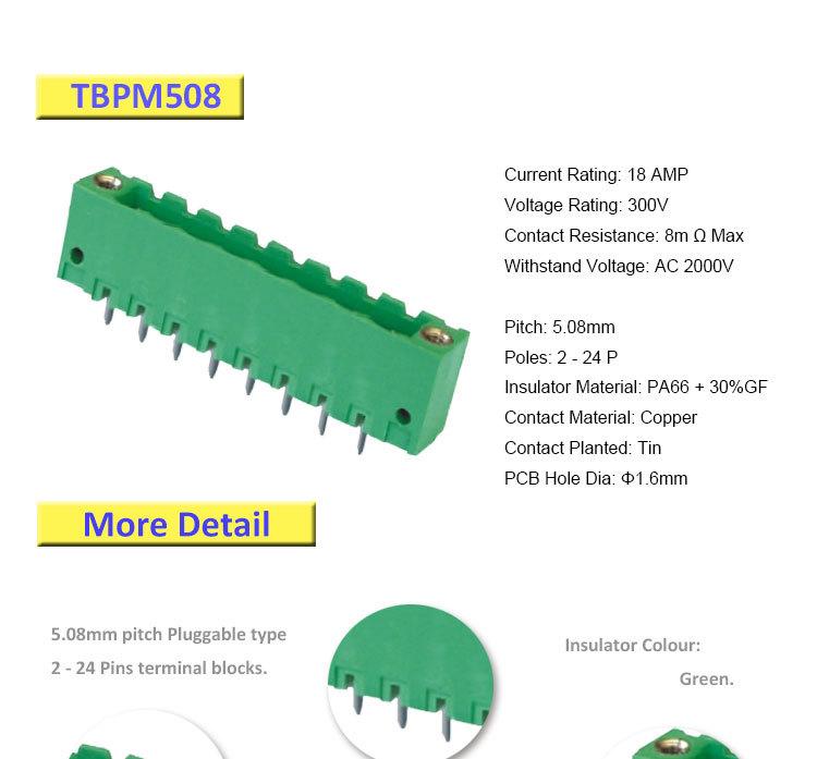 Dip Solder Connector 8 Pin Male Terminal Block Buy Male
