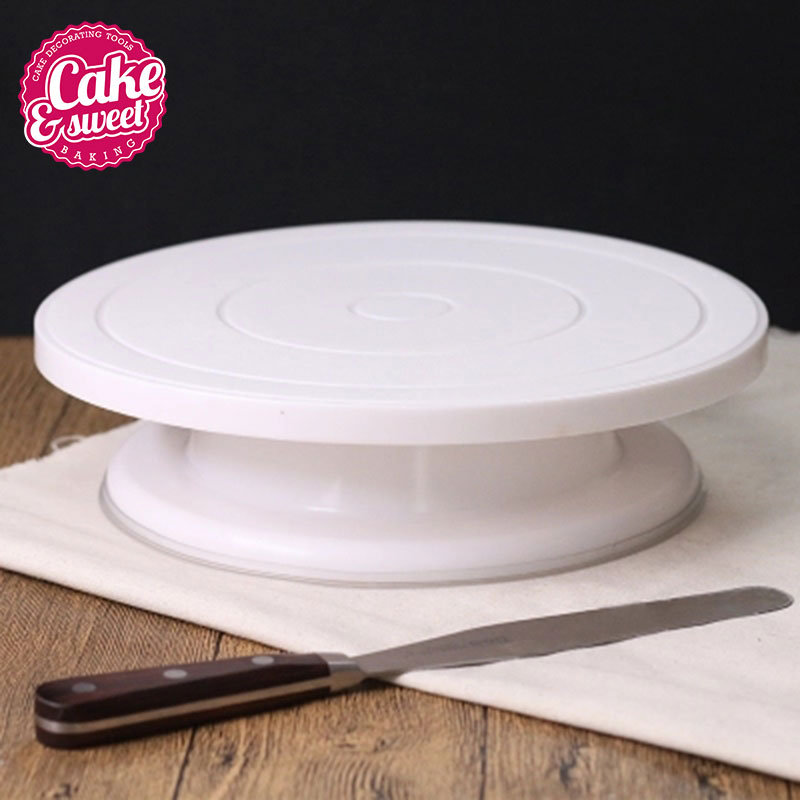 Plastic cake decorating revolving stand cake turntable