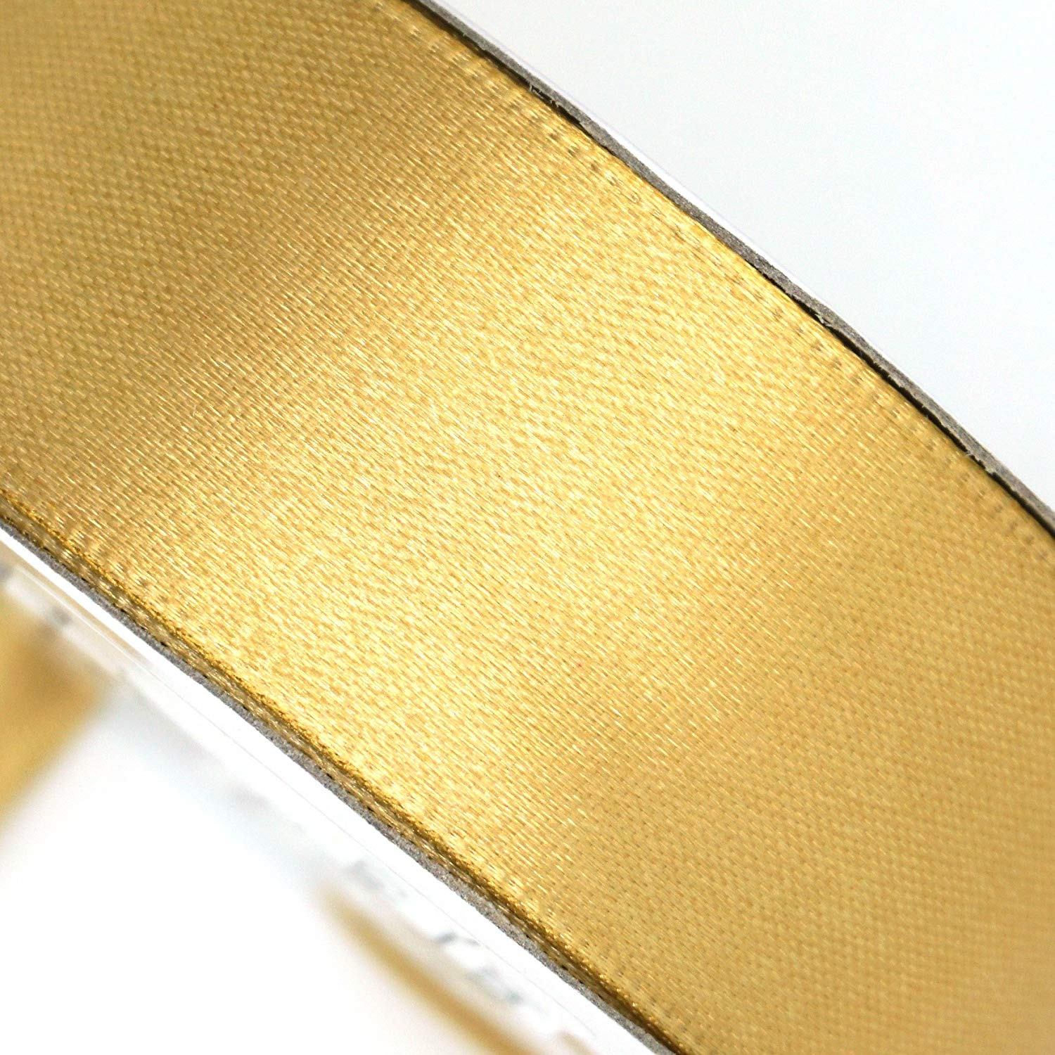 "25 Yard Satin Ribbon Rolls In 24 Colors - Select Size: 1/4"", 3/8"", 1/2"", 5/8"", 3/4"", 1"" (1/4"", Gold)"