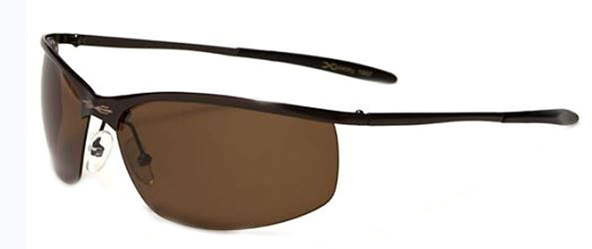e76f3d3952 Get Quotations · X Loop Polarized Driving Sunglasses (Brown w Amber Lens