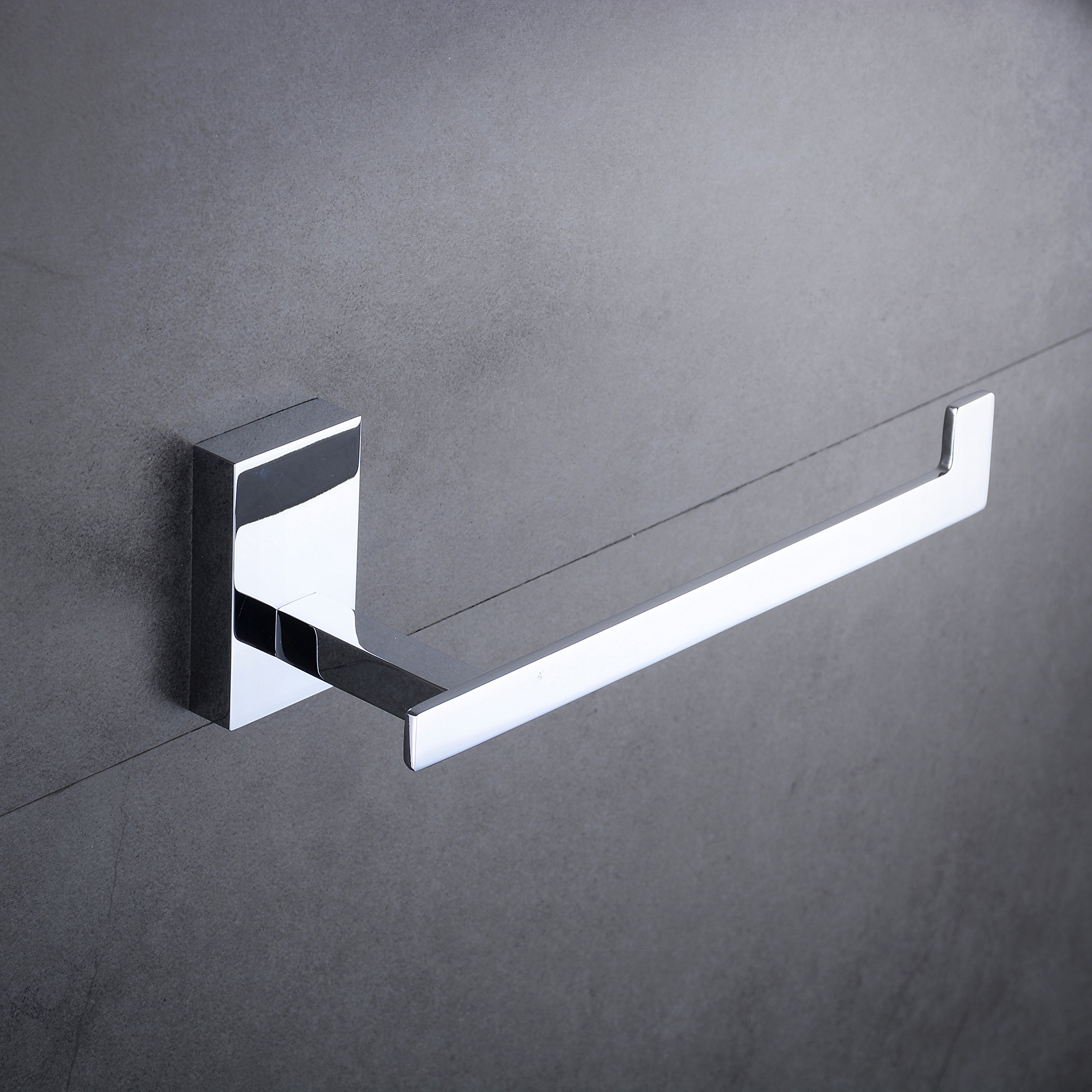 Hiendure Toilet Paper Holder and Dispenser, Wall Mounted Brass Tissue Roll Holder Polished Chrome with Sturdy Square Base