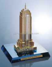 beautiful elegant miniature crystal building model