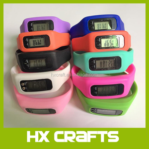 Multifunction wristband pedometer silicone promotion watch