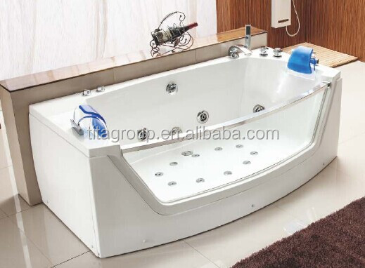 Stainless Steel Jets Glass Front Whirlpool Bathtub Buy