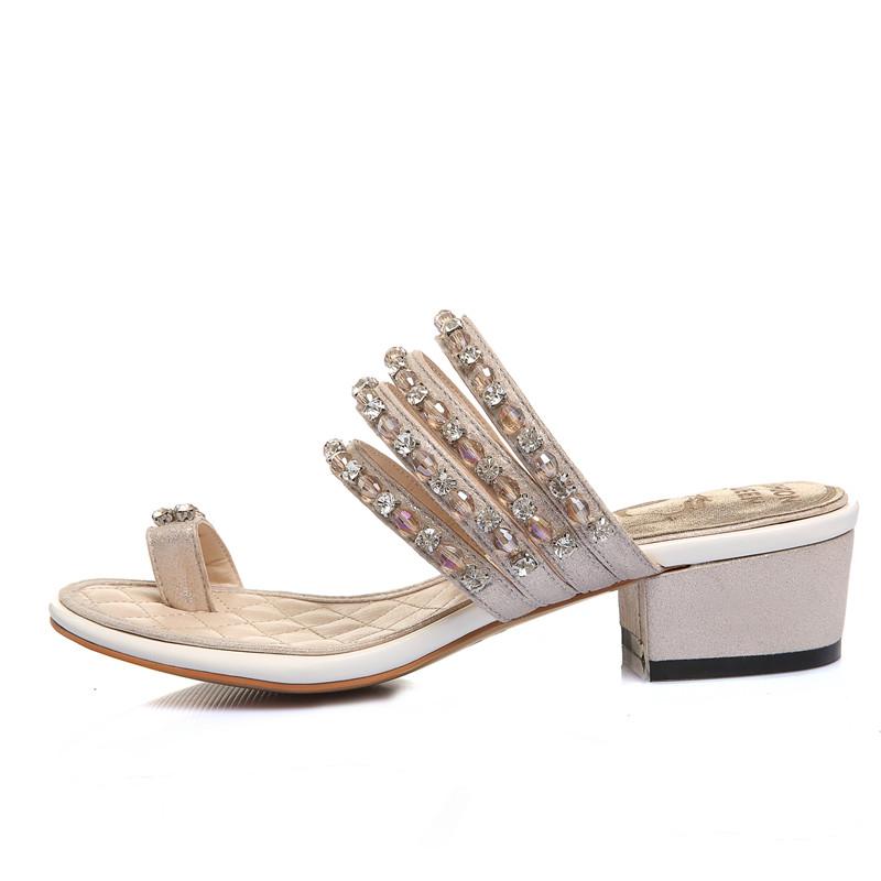 5d43682771f56 low heel sandals shoes ladies fancy summer shoes rhinestone women shoes  flip flop sandal