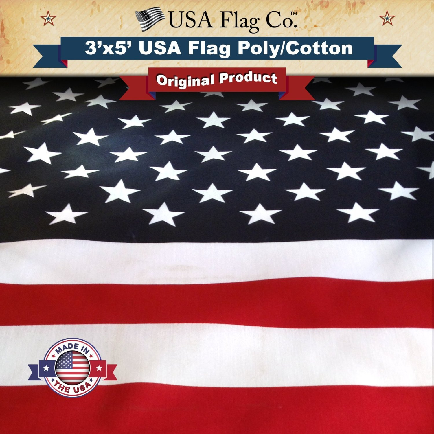 American Flag: Made in USA by USA Flag Co. - The BEST Indoor / Outdoor 3x5 US Flag!