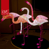 100% handmade outdoor led 3D sculpture flamingo zoo park decoration outdoor sculpture