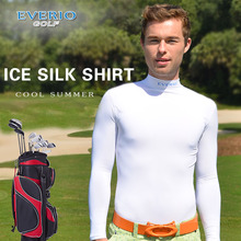 Best price ice silk high neck long sleeves undershirt golf t shirt