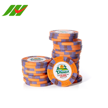 Custom Cheap Numbered Clay Poker Chips,4 Aces Poker Chips