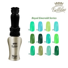 Free shipping 6 pcs of Royal Emerald Series FeiFan UV Gel Nail Polish 15ml 12 beautiful