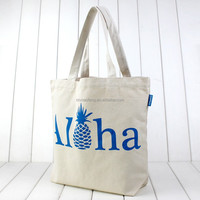 Hawaii Aloha natural canvas tote bag