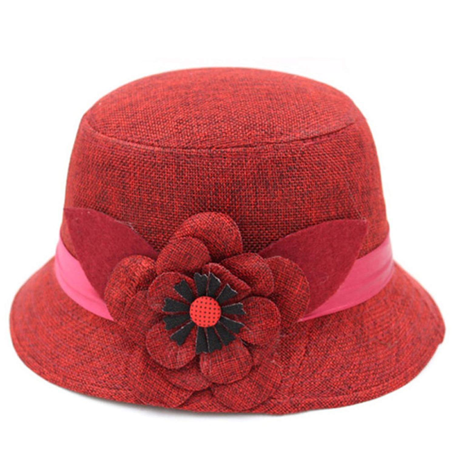 Hats for Women/ Spring and summer hat mom/Bucket Hat/Fisherman Hat/Middle-aged Korean fashion hats/ Ms. hat outdoor autumn flowers