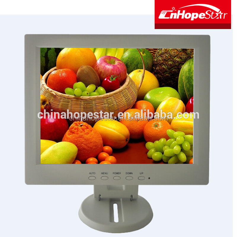 Non-Touch Black / White Color 12-inch TFT LCD Monitor for PC,POS,ATM