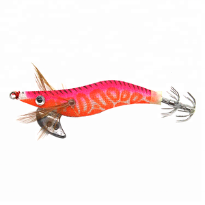 Plastic Saltwater Fishing Lures Hard Squid Jigs Lures Artificial Bait With Squid Hooks