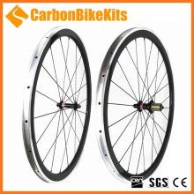 CarbonBikeKits Alloy Braking Surface 700C Bicycle Carbon Wheelset 38mm road bike wheels clincher CW38C-A