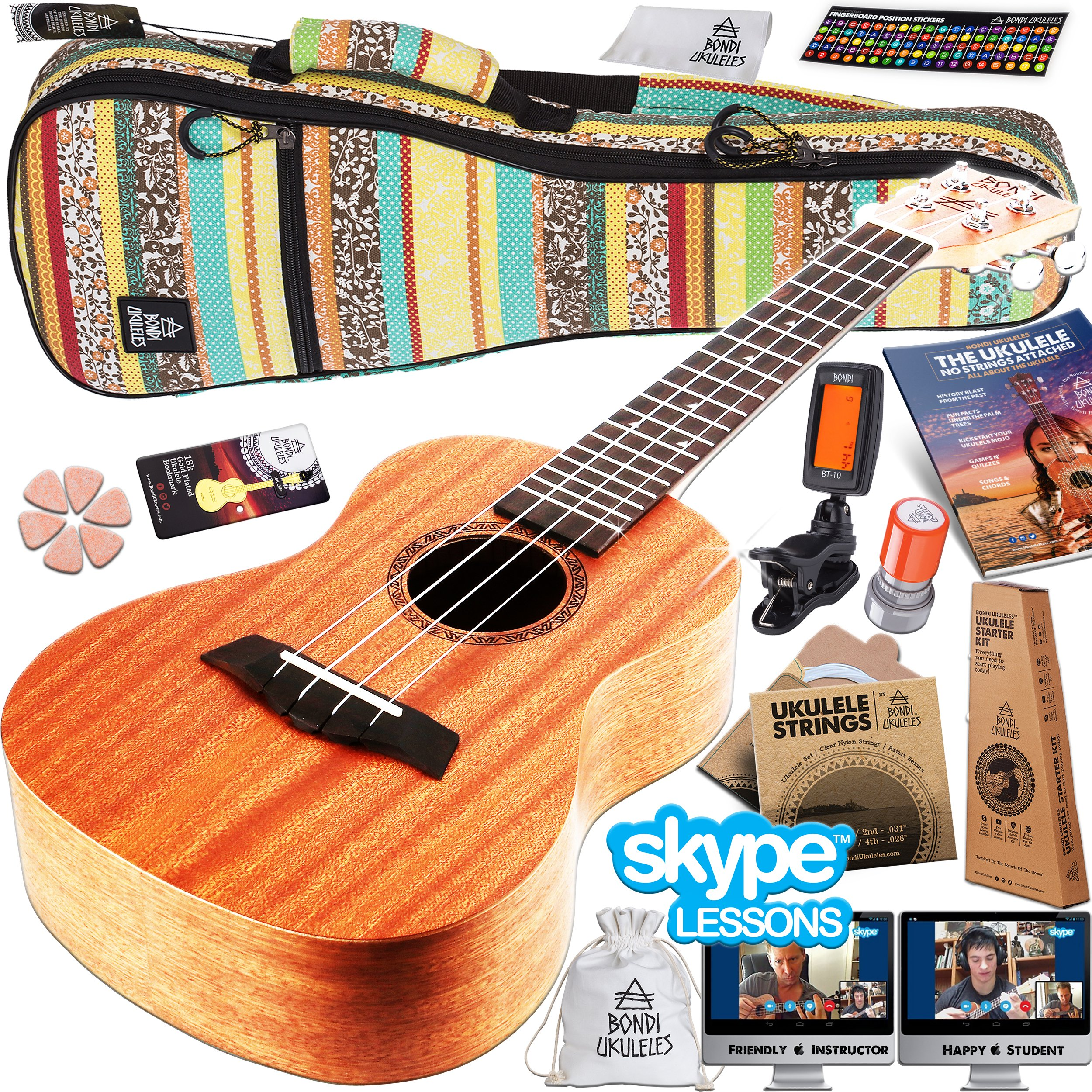 Cheap Free Ukulele Chord Chart Find Deals Tuning Diagram Get Quotations Starter Kit 16 Piece Set Acclaimed Brand Official Skype Lesson