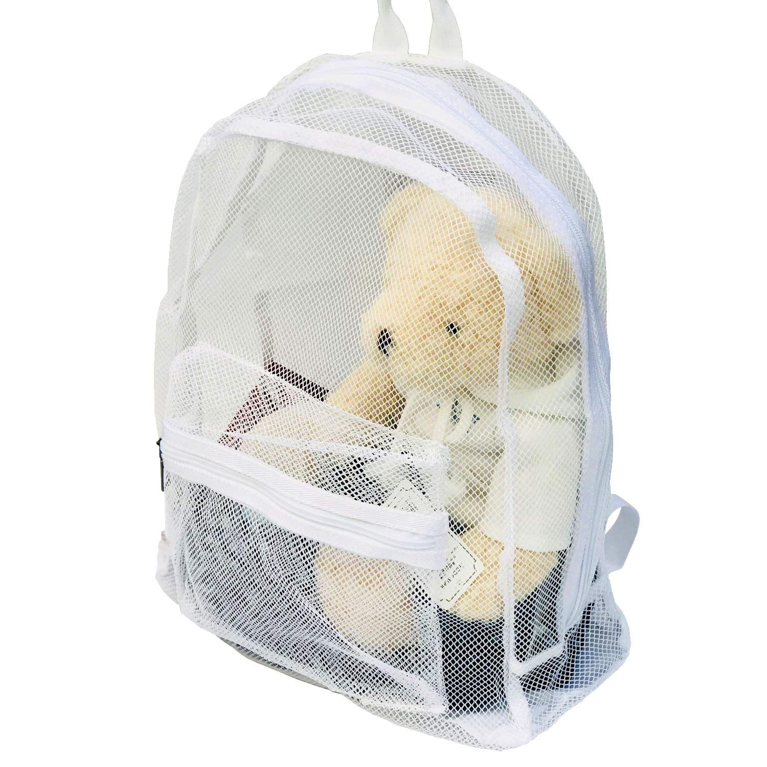 51e014e5a4 Get Quotations · Youndcc Foldable Mesh Backpack Ventilator Mesh Bag Mesh  Beach See Through Backpack Large Mesh Hiking Backpack