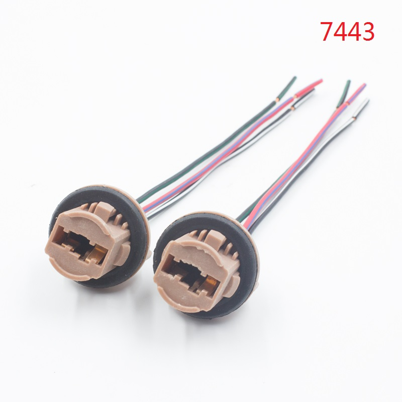 T20 7440 7440 LED brake turn signal <strong>light</strong> bulb socket harness wire pig <strong>tail</strong> plug holder Car 7443 7440 7444 led <strong>tail</strong> <strong>light</strong> socket