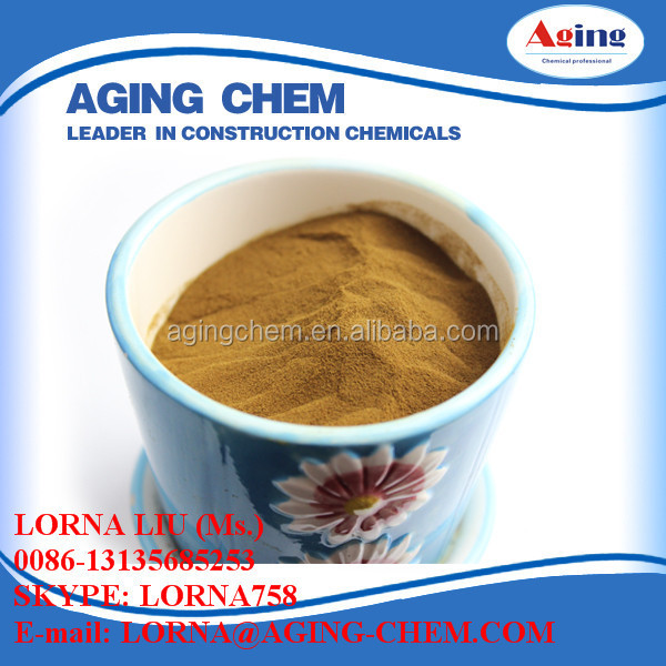 Mineral Admixtures Sodium Lignosulfonate / Lignosulphonate Na HOT LINE: 86-13135685253