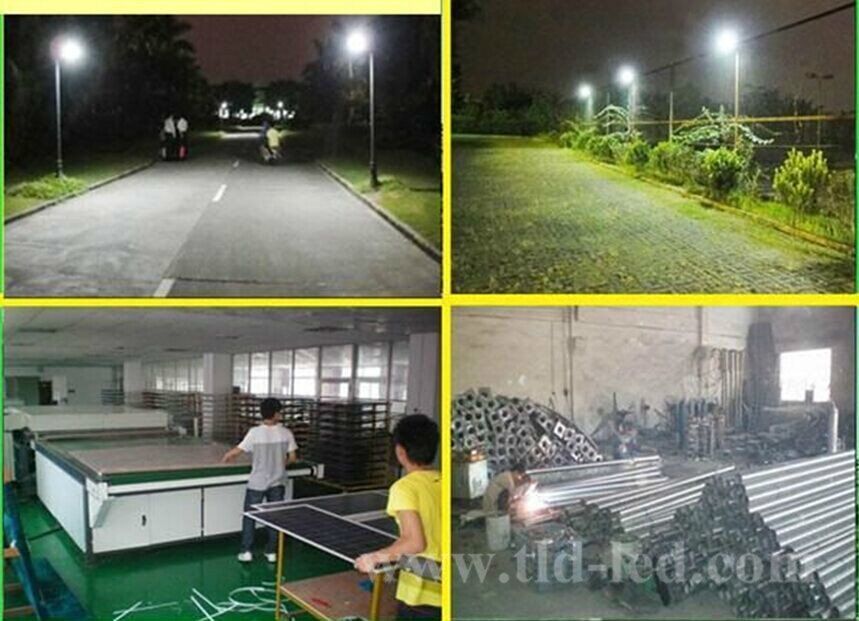 60w world first all in one solar street led light