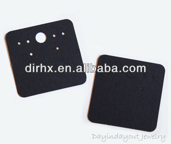 High Qualty Card Stock Blank Black Earring Card for Jewelry and Accessories