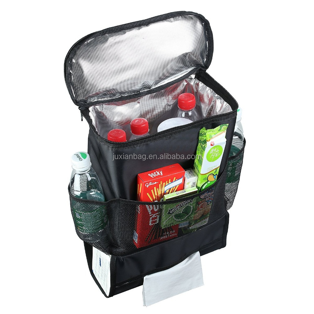 Running Text Gantungan Holder Car Back Seat Organizer Auto Multi Pocket Travel Storage Bag Insulated Drinks Cooler Buy With Drink Holderkids