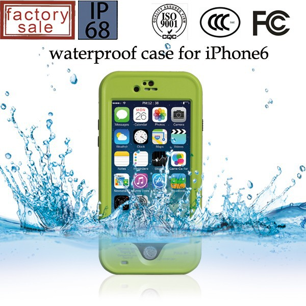 TPU + PC Outdoor Protective Waterproof Case for iPhone 6/6s protects from water rain dirt dust mud drops bumps