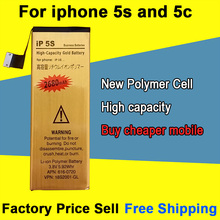 Brand New Good Quality 2680mAh Golden Mobile Phone Battery for iPhone 5S 5C Battery Free Shipping