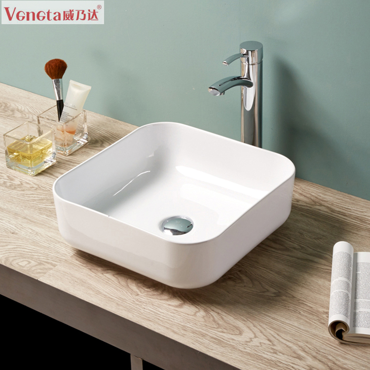 Delightful Modern Elegant Design Ceramic Thin Edge Bathroom European Sinks
