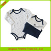 Wholesale plain cotton onesie baby with long sleeve