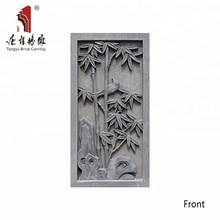 Chinese suppliers hand carved bamboo relief gray brick panels