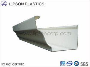 PVC Eaves Gutters for Plastics Rainwater Piping System