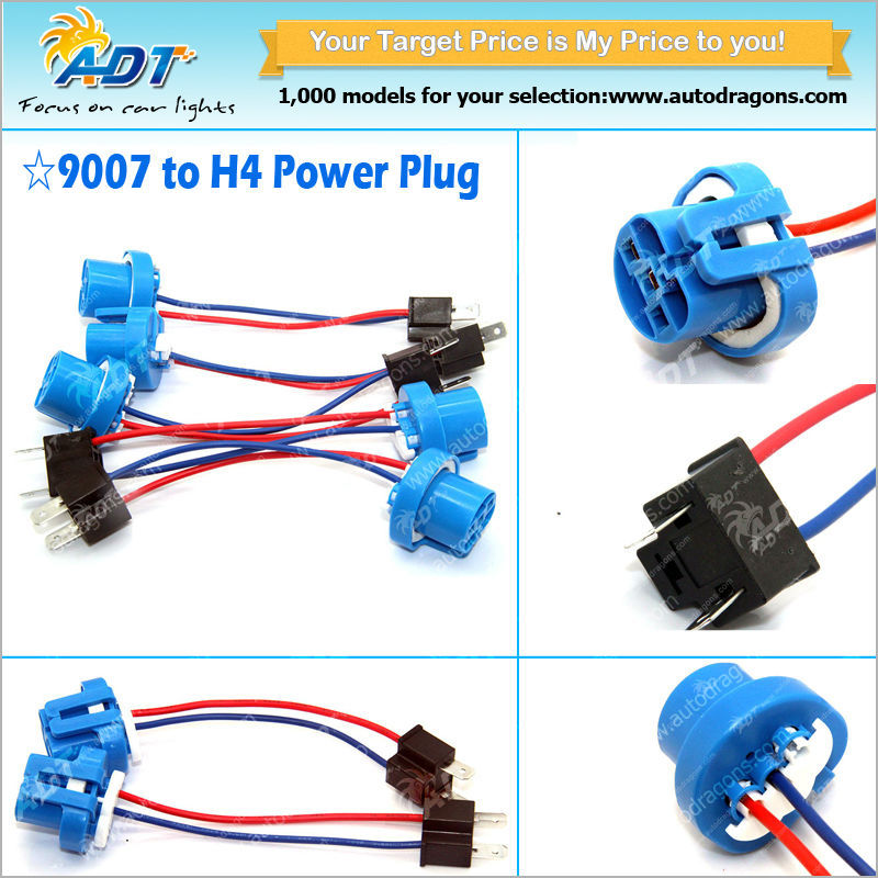 9005 9006 H10 9145 H7 H11 Hid Conversion Kit Relay Wire Harness ...