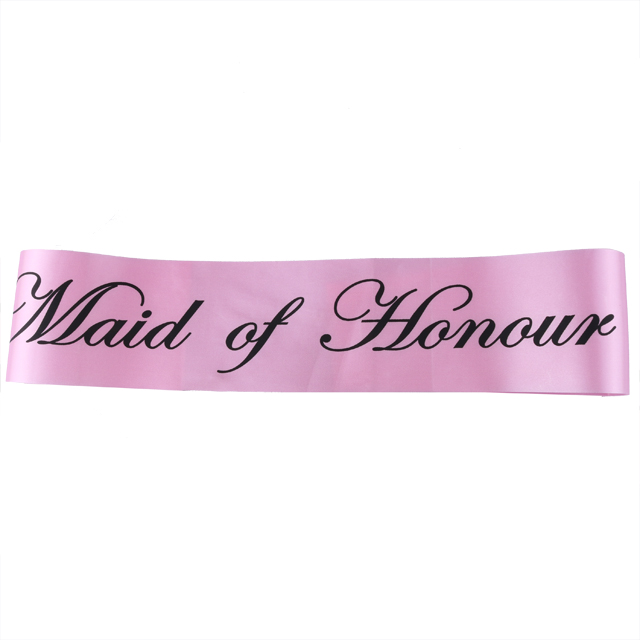 Bridal shower bachelorette party pink sash wedding decorations bride to be sash