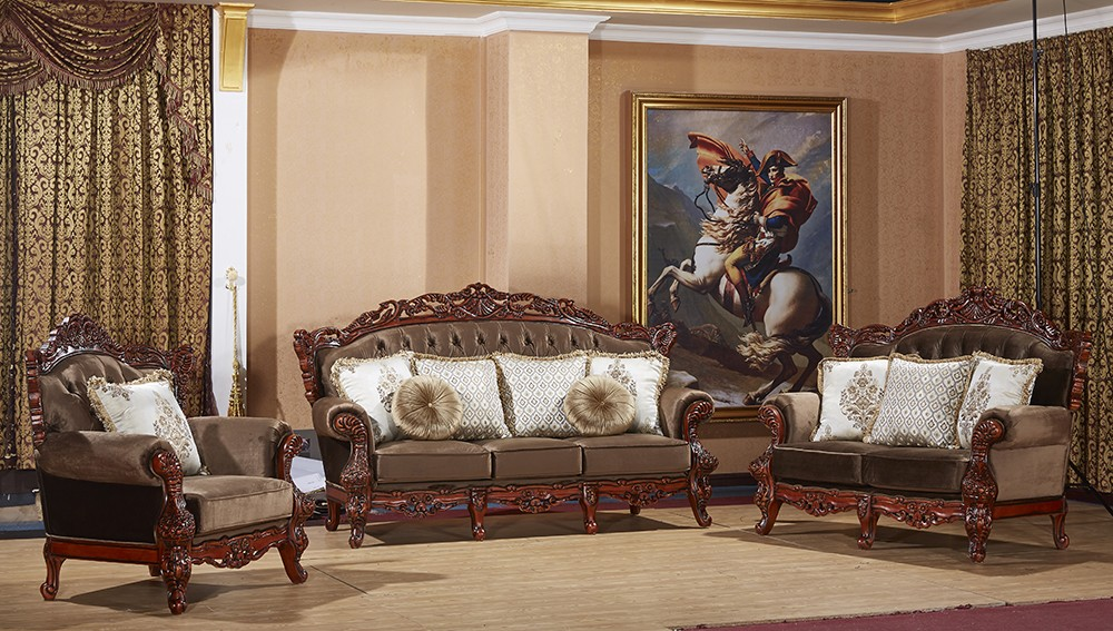 S2011 China Furniture Luxury Arabic Sofa Handmade Carved Wood