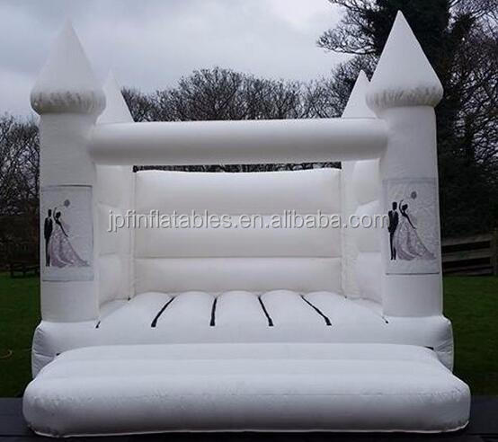 2019  white color Inflatable bouncer for wedding and party, holiday inflatable white castle for decoration