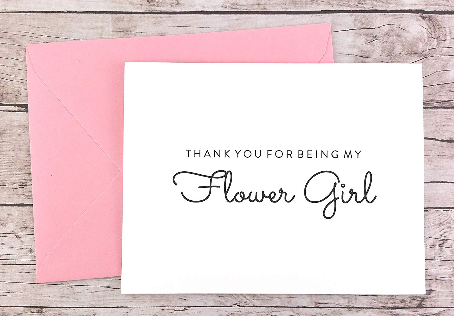 Thank You For Being My Flower Girl Card, Flower Girl Thank You Card, Wedding Card (FPS0016)