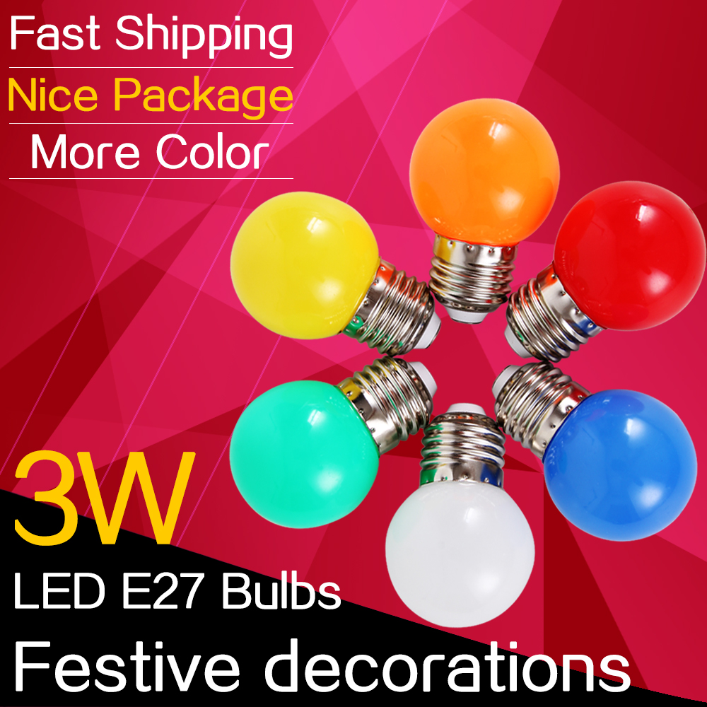 E27 Led Lamp Christmas Lights Bulb 220v Outdoor For New Year's Eve ...