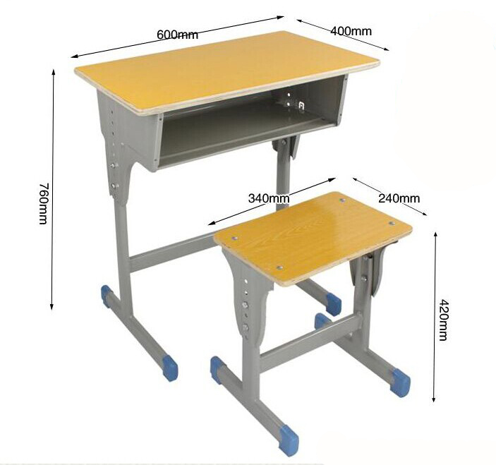 Kids writing table and chair adjustable elementary school