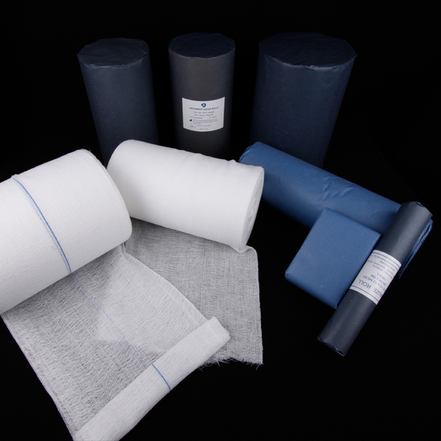 CE and ISO approved sterile absorbent gauze roll