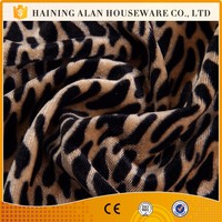 Home Textile 150D/144F Leopard printing crush velour fabric