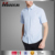 Classical Style Short Sleeves Men Tops Pure Cotton Striped Shirt