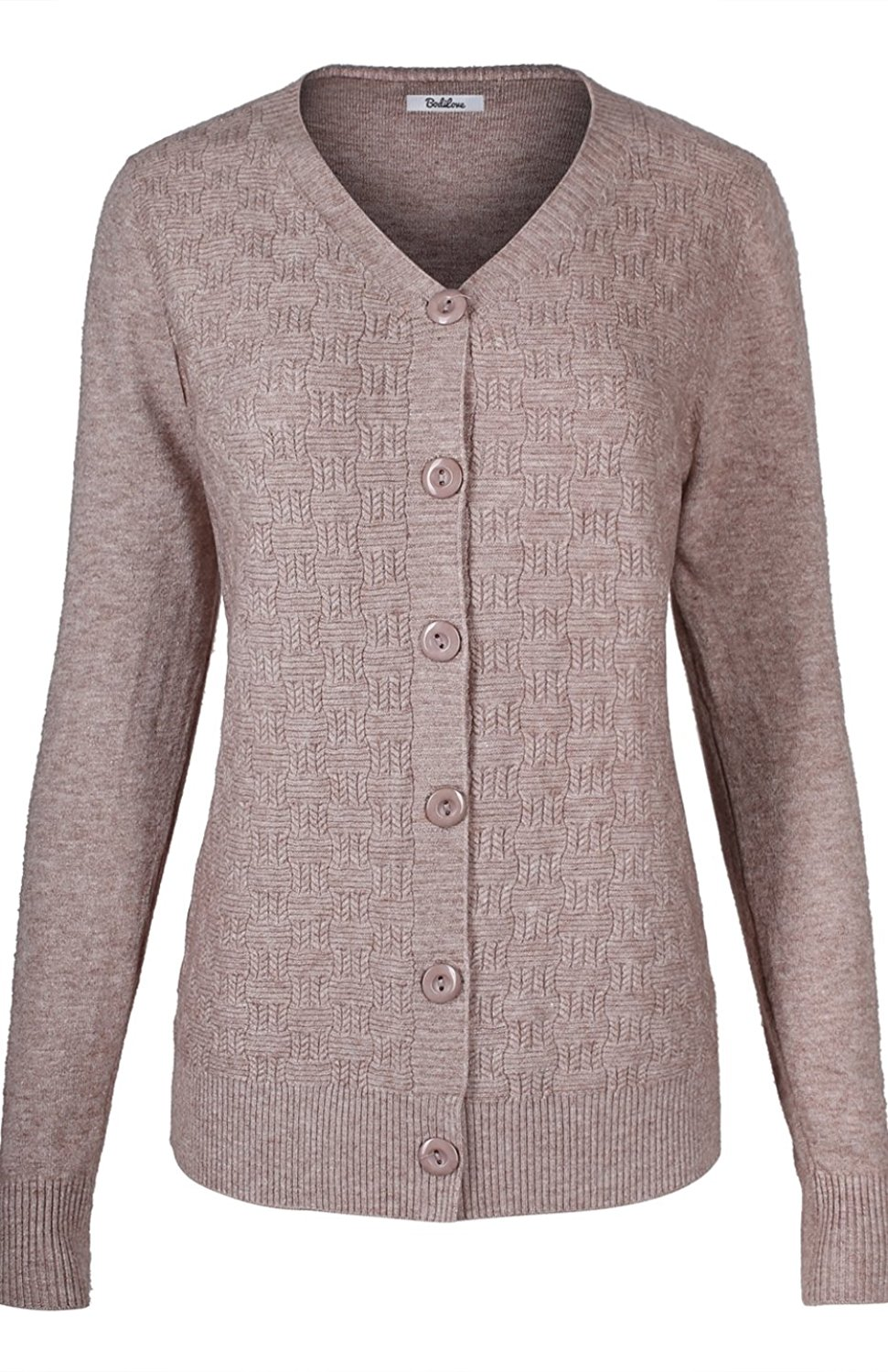 296796797a Get Quotations · 2LUV Women s Long Sleeve V-Neck Button Down Classic Fit Knit  Cardigan