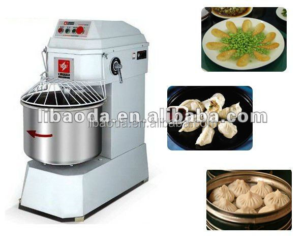 Two speed electric spiral dough mixer