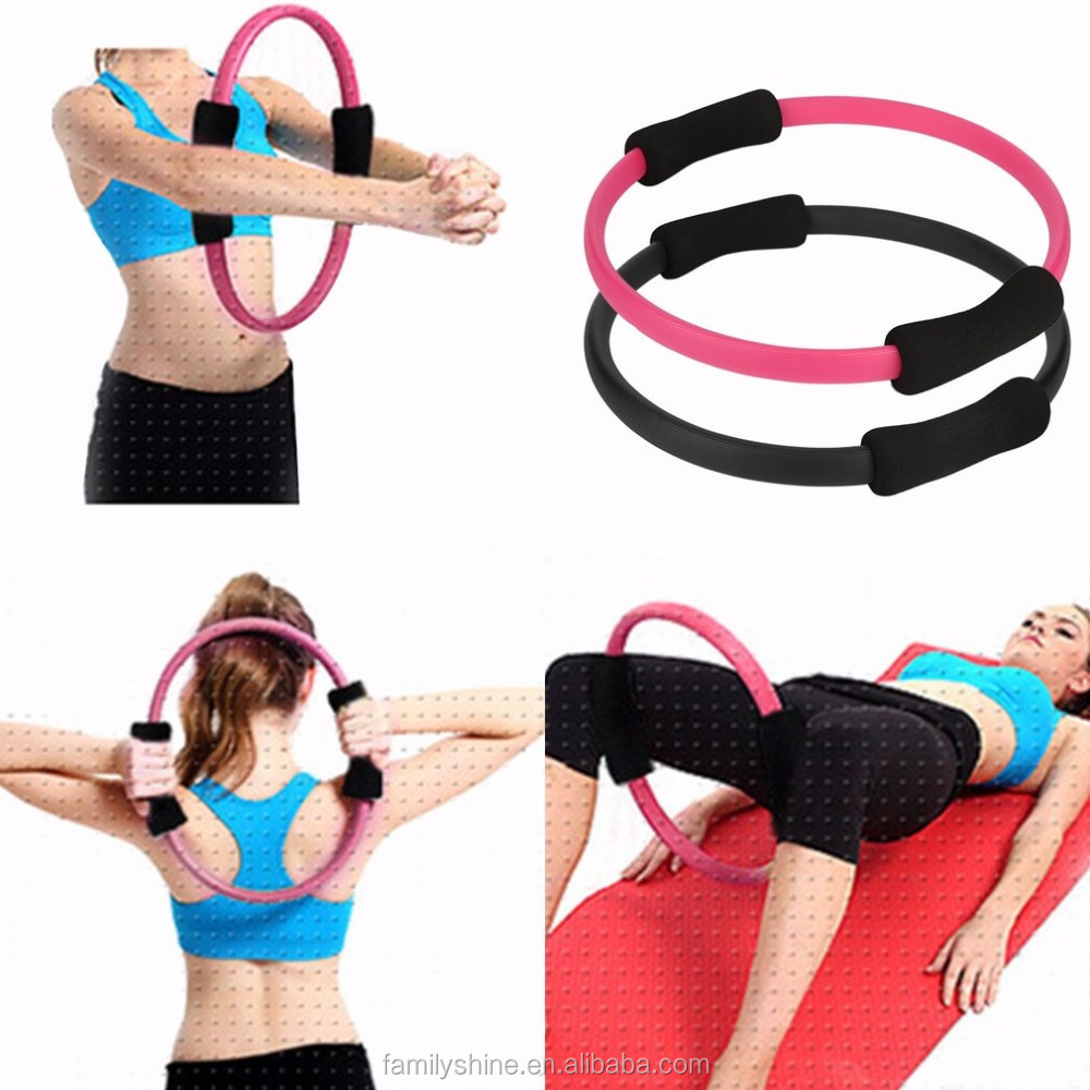 Pilates Ring Magic Circle Massage Loop Dual Grip Sporting Goods Pilates Yoga Ring Body Fitness tool FS-1198-180U