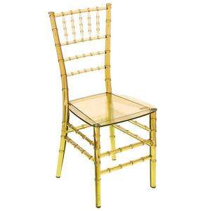 JOHOO wholesale Clear Crystal plastic tiffany chair wedding resin chiavari chair