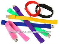 Cheap USB Flash Drive Wristband, Silicone USB Wristband