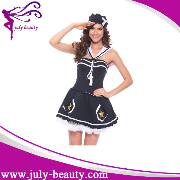 sexy women sailor costume navy uniform role play naughty girl halloween costumes cosplay - Naughty Girl Halloween Costumes